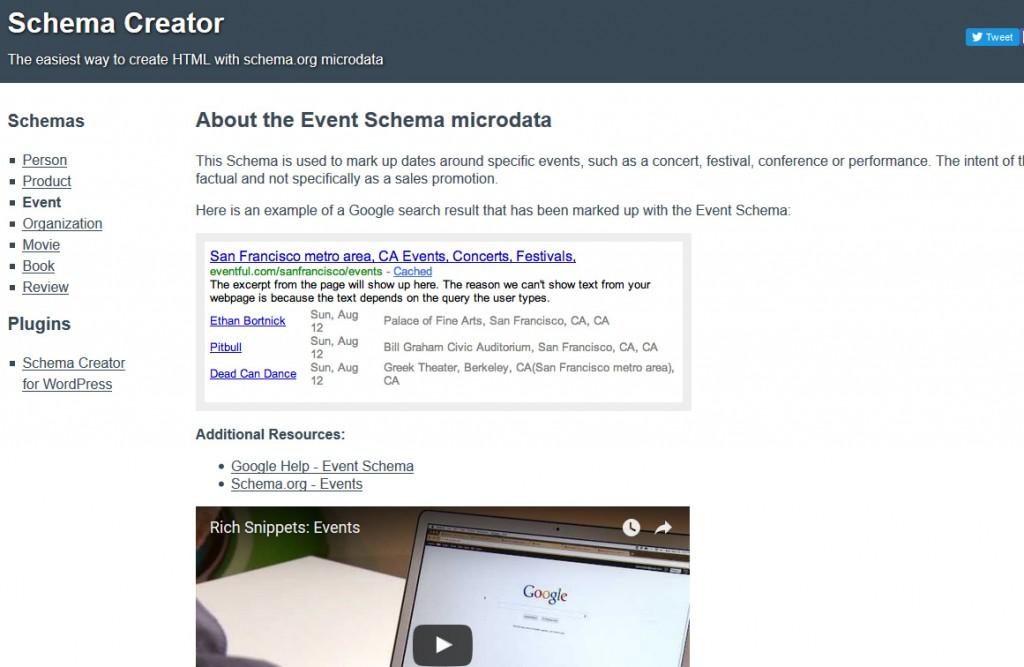 Schema Creator SEO und Content Marketing Tool