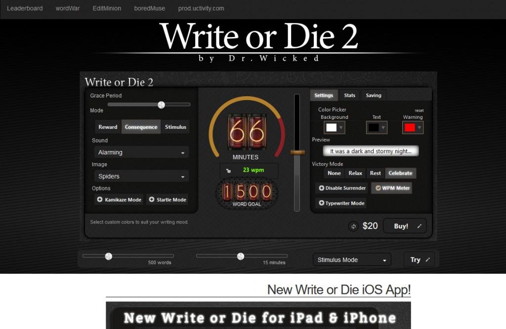 Write or Die das Schreibtool fürs Content Marketing