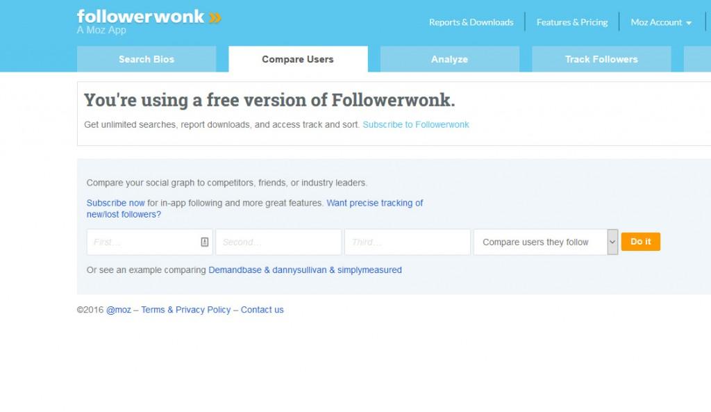 Followerwonk Content Marketing Tool