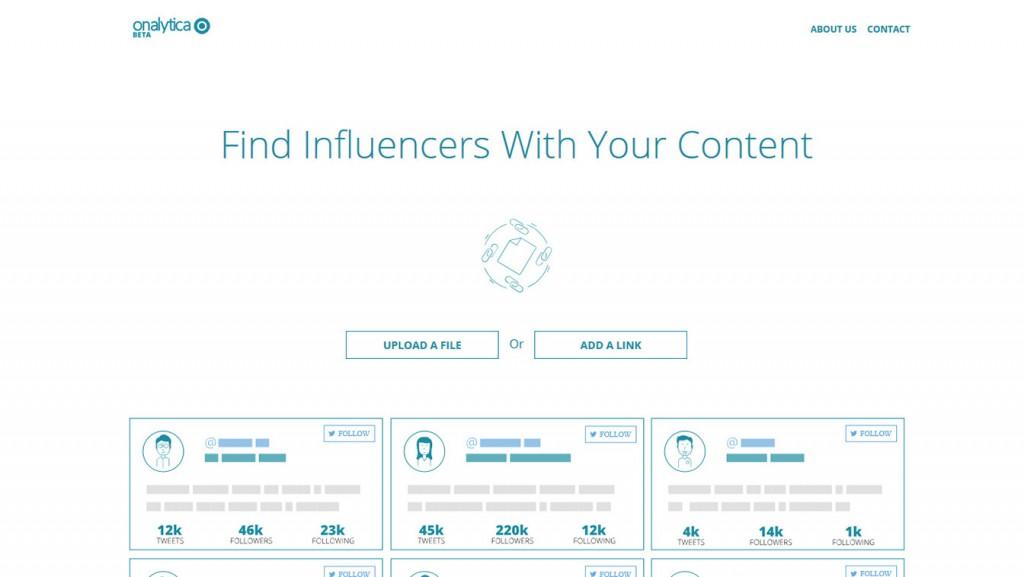 Onalytica Influencer Tool