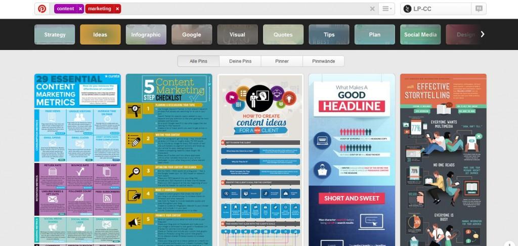 Content Marketing Tool Pinterest