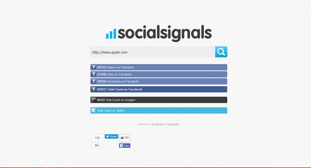 Social Signals finden