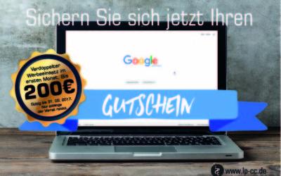 Jetzt Rabatt sichern: 200 Euro Google AdWords Gutschein