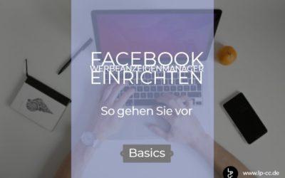 Facebook Werbekonto einrichten