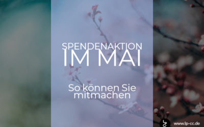 Spendenaktion im Mai