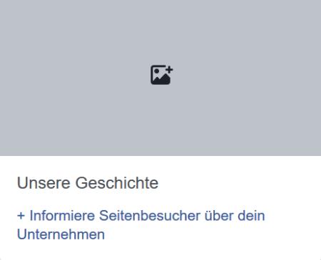 Unsere Geschichte auf Facebook